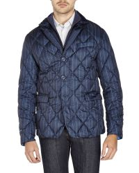 Colmar | Blue Pinstriped Blazer Down Jacket for Men | Lyst