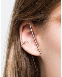 Vibe Harsløf | Metallic Earwrap Silver | Lyst