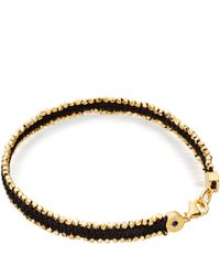 Astley Clarke - Metallic Black Walk On The Wild Side Nugget Bracelet for Men - Lyst