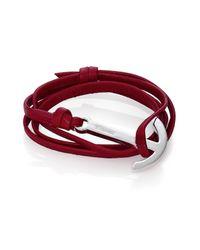 Miansai | Purple Modern Anchor Leather Wrap Bracelet | Lyst