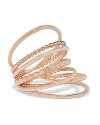 Arme De L'Amour | Pink Rose Gold-plated Ring | Lyst