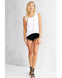 Silence + Noise | White Double Me Up Tank Top | Lyst