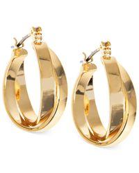Jones New York - Metallic Gold-Tone Double Hoop Earrings - Lyst
