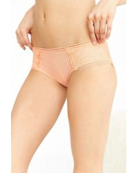 Urban Outfitters - Orange Swiss Dot Lace Mix Hipster - Lyst