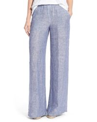 25aa9fbe00c43 Lyst - NIC+ZOE  drifty  Linen Wide Leg Pants in Gray