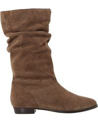 Dune - Brown Relissa Slouchy Suede Boots - Lyst