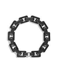 David Yurman | Black Royal Cord Link Bracelet for Men | Lyst