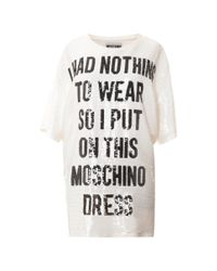 Moschino   White Nothing To Wear Sequin Shirt Dress   Lyst