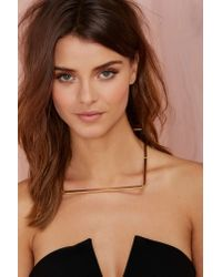 Nasty Gal - Metallic Right Angles Metal Necklace - Lyst