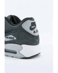 Nike   Air Max 90 Black And Grey Leather Trainers for Men   Lyst