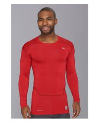 Nike - Red Pro Core Compression L/S Top 2.0 for Men - Lyst