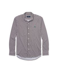 Polo Ralph Lauren | Brown Gingham Cotton Interlock Shirt for Men | Lyst