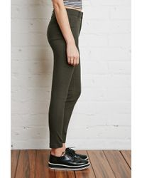Forever 21 - Green Classic Skinny Pants - Lyst