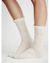 Free People - White Speckled Highland Bootsoc - Lyst