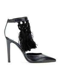 Altuzarra - Black Embellished Leather Pumps - Lyst