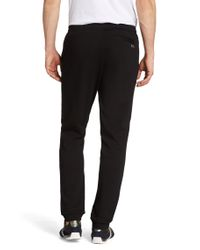 BOSS Green - Black Regular-fit Jogging Trousers 'hakibo' In Cotton for Men - Lyst