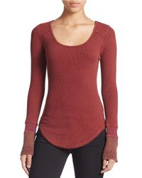 Free People | Purple Long Sleeved Tee | Lyst