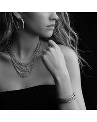 David Yurman - Metallic Sixteen-Row Chain Necklace - Lyst