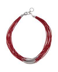 John Lewis - Purple Multi Row Cord Necklace - Lyst