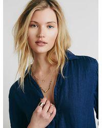 Free People - Blue Cp Shades Womens Cp Shades Indigo Pocket Tunic - Lyst