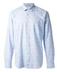 Our Legacy - Blue Ocean Print Shirt for Men - Lyst