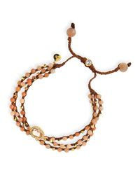 Tai | Pink Rose Agate 3-strand Bracelet | Lyst