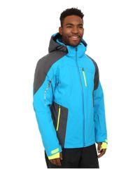 Spyder   Blue Chambers Jacket for Men   Lyst