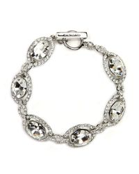 Givenchy | Metallic Silver-tone Swarovski Element Bridal Bracelet | Lyst