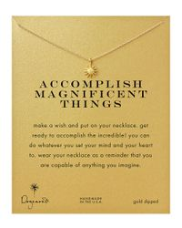 Dogeared | Metallic 'accomplish Magnificent Things' Starburst Charm Necklace | Lyst