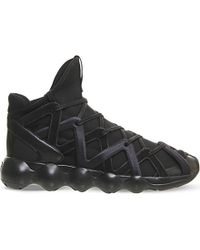 4231c1929a692 Lyst - Y-3 Kyujo High-top Neoprene Trainers in Black for Men