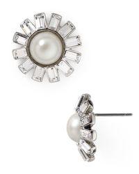 Ralph Lauren - Metallic Lauren Floral Stud Earrings - Lyst