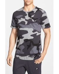 Nike | Black 'futura Sportswear - Camo' T-shirt for Men | Lyst
