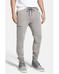 Jeremiah | Metallic 'frazier' French Terry Jogger Pants for Men | Lyst