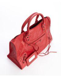 Balenciaga - Poppy Red Lambskin Large Work Bag - Lyst