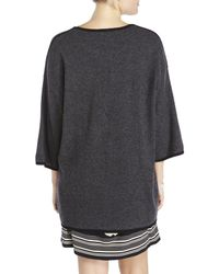 In Cashmere | Gray Contrast Trim Cardigan | Lyst