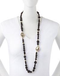 Alexis Bittar - Black Miss Havisham Onyx Beaded Necklace - Lyst