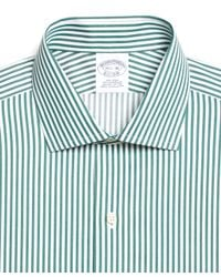 Brooks Brothers - Green Non-iron Extra-slim Fit Bengal Stripe Dress Shirt for Men - Lyst