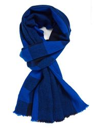 Marc By Marc Jacobs | Blue Plaid Wool Scarf for Men | Lyst