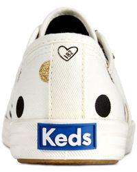 Keds - Natural Women's Limited Edition Taylor Swift Glitter Dot Sneakers - Lyst