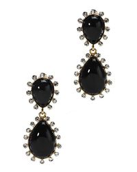 Kenneth Jay Lane | Women's Black Pearly Bead Teardrop Earrings | Lyst