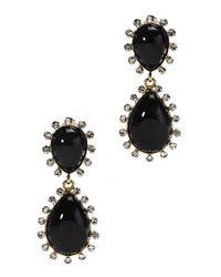 Kenneth Jay Lane - Women's Black Pearly Bead Teardrop Earrings - Lyst