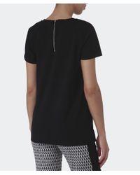 Barbour | Black Quilted Shoulder Top | Lyst