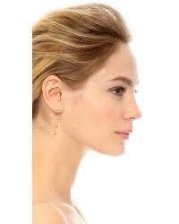 Vanessa Mooney | Metallic Thunderstruck Hanging Earrings - Gold/clear | Lyst