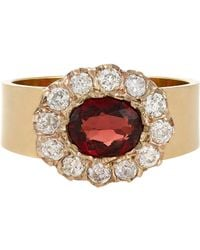 Renee Lewis - Red Diamond & Gemstone Ring-Colorless - Lyst