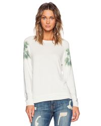 All Things Fabulous - White Print-Detail Jersey Sweatshirt - Lyst