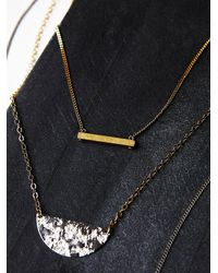 Free People | Metallic Womens Triple Bar Necklace | Lyst