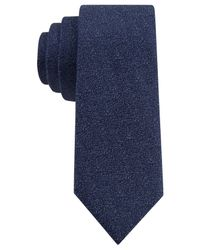 Calvin Klein | Blue Salt Pepper Solid Skinny Tie for Men | Lyst