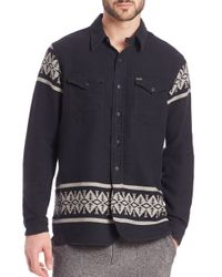 Polo Ralph Lauren - Blue Stag Jacquard Sportshirt for Men - Lyst