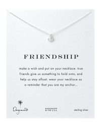Dogeared | Metallic Anchor Charm Necklace | Lyst