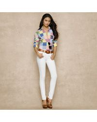 Ralph Lauren Blue Label - Multicolor Classicfit Patchwork Shirt - Lyst